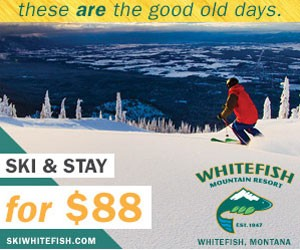 Whitefish Mountain Resort | Ski & Stay for $88 : Value-priced and full of energy. Includes lift tickets, ski-in/out lodge rooms and daily hot breakfast for just $88/person (2 night min, some blackout dates). Best deal!
