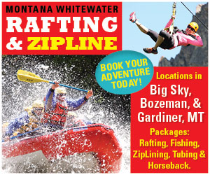 Yellowstone Zipline Tours : Rafting adventures on three of Montana's best rivers (Gallatin, Yellowstone & Madison), plus horseback riding near Gardiner and Big Sky/Bozeman. Zipline tours also available in both locations (new in 2014).