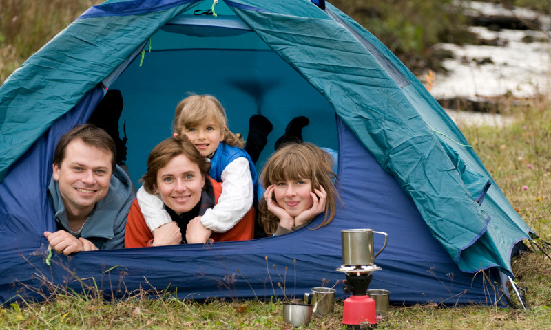 Family Kids Camping