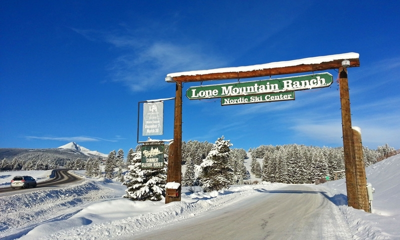 Entrance to Lone Mountain Ranch in Big Sky Montana
