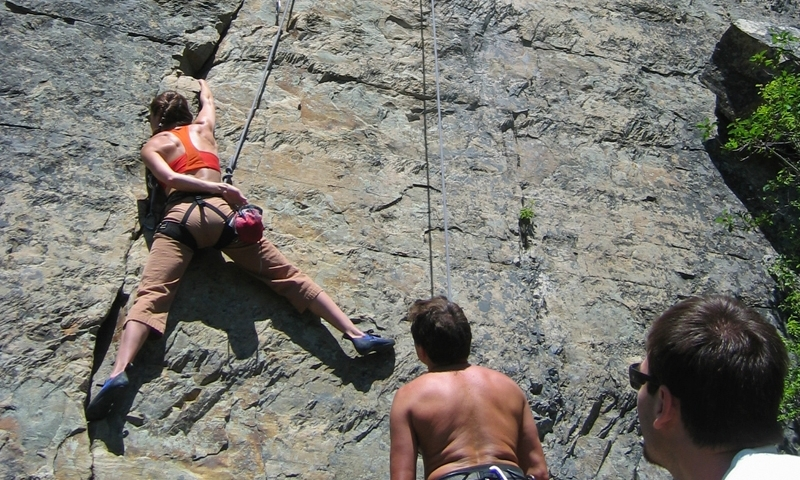 Climbing Stonehills Montana