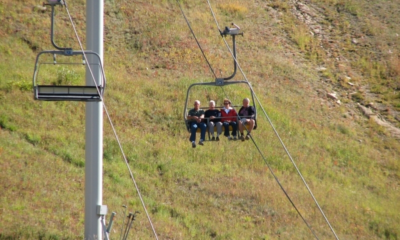 Riding the Scenic Chairlift at Big Sky Resort