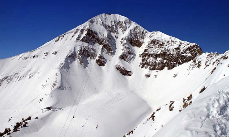 Big Sky Montana Resort Winter Lone Peak