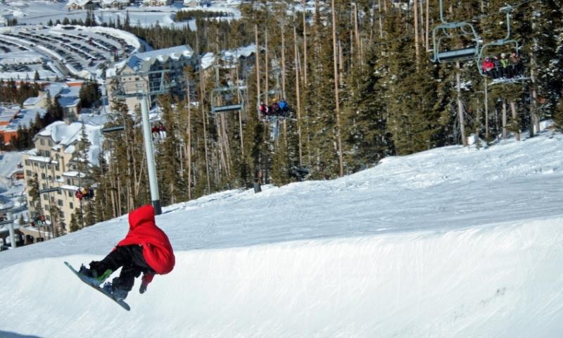 Big Sky Montana Resort Winter Lone Peak Snowboarding Terrain Park