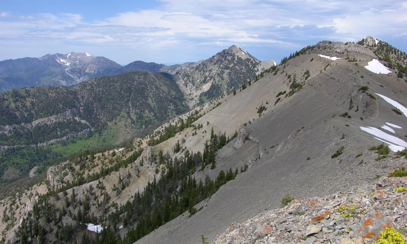 Bridger Range from the Top of Baldy Mountain