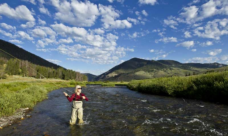 Fly Fishing the Upper Gallatin River near Big Sky