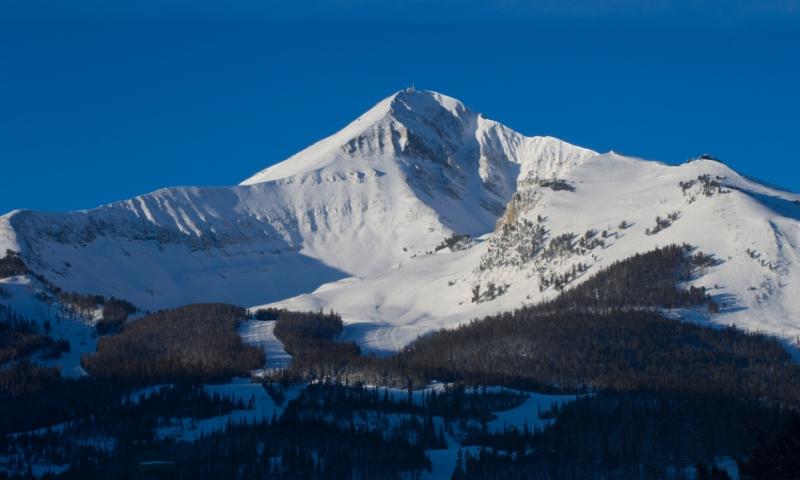 Lone Mountain Lone Peak Big Sky Montana
