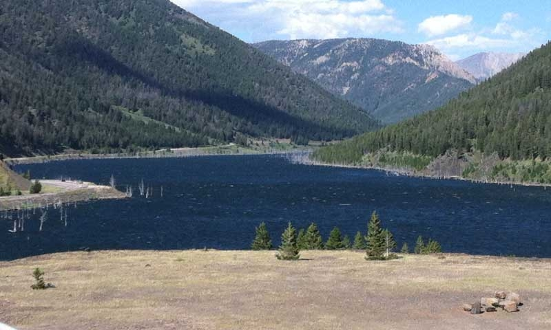 Quake Lake near West Yellowstone Montana