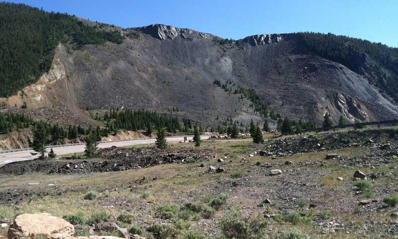 The Slide that formed Quake Lake near West Yellowstone Montana