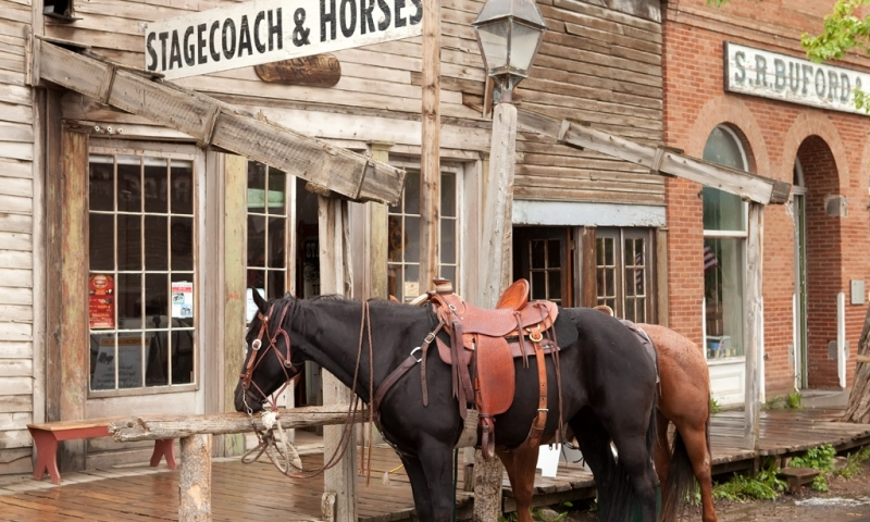 Virginia City Ghost Town in Montana