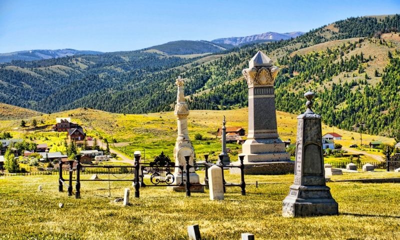 Virginia City Ghost Town Cemetery in Montana