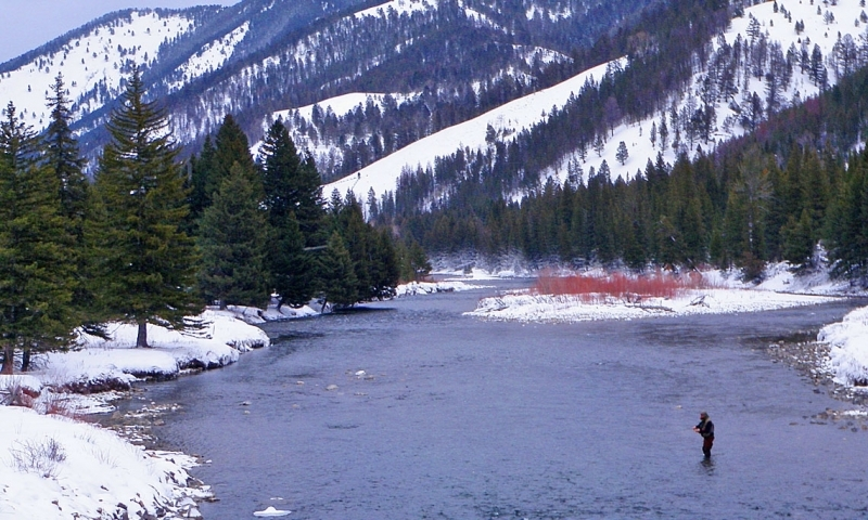Fly Fishing the Gallatin River in the Winter