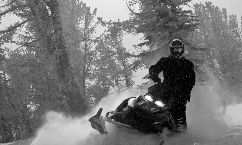 Snowmobiling near Big Sky Montana