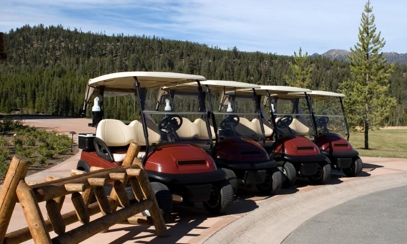 Golf Cart Golfing Montana