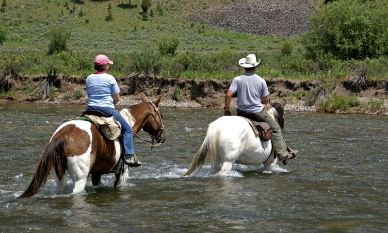 Horseback Riding Montana Gallatin River