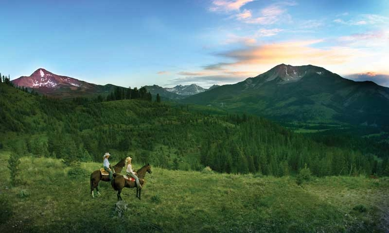 Horseback Riding at Moonlight Basin in Big Sky