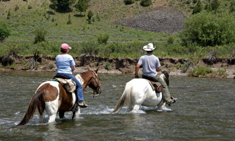 Horseback Riding Montana Gallatin River