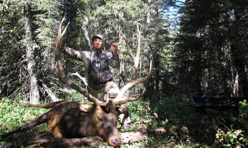 Hunting Elk in East Fork Camp near Big Sky Montana