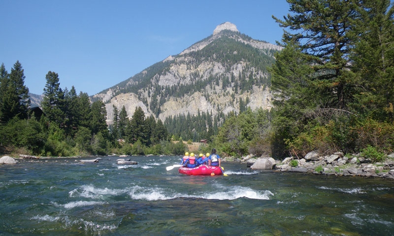 Rafting the Gallatin near Big Sky Montana